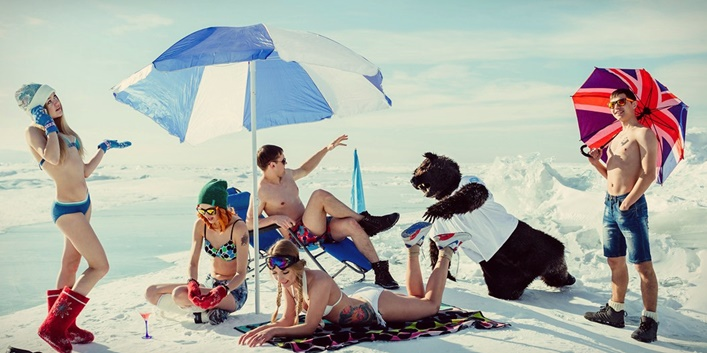 White beaches of Siberia: Frosty party on the lake Baikal