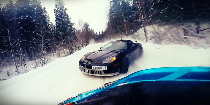 Crazy winter drifting in Russia by Evil Empire Team