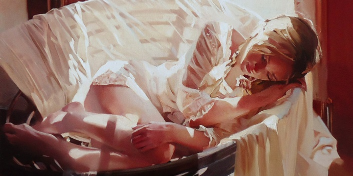 Good morning, beautiful woman: Paintings by Alexey Chernigin